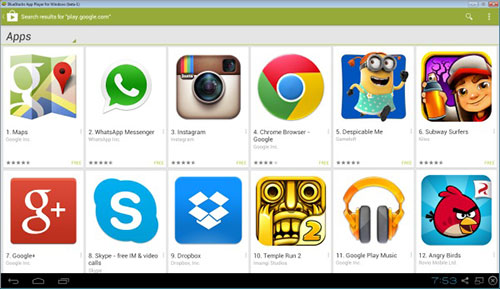Google Play Store sur BlueStacks